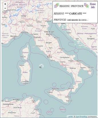 Cartina Italia Con Regioni E Province.Comuni D Italia Info Su Mappa Regioni Province